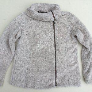 Cabela's Teddy Bear Fleece Asymmetrical Zip Jacket